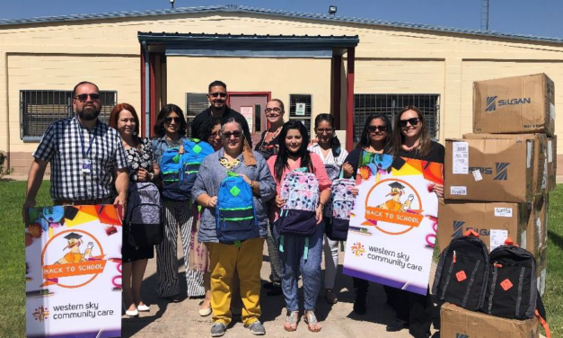 Western Sky Community Care Donates Backpacks and School Supplies